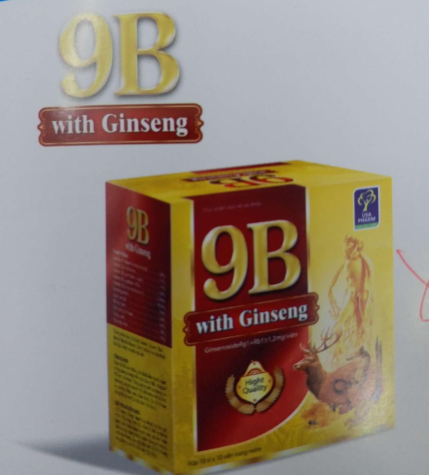 Viên uống Vitamin 9B ginseng hộp 100v chính hãng