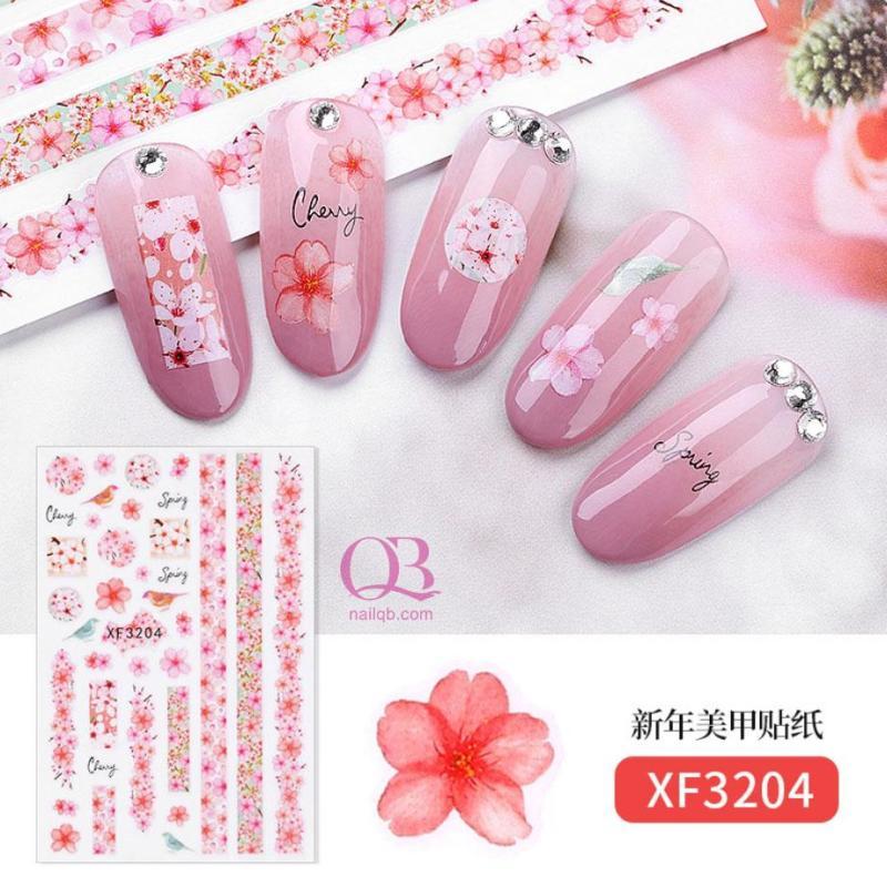 Nail sticker dán móng Tết - chúc mừng năm mới, nail sticker trang trí móng Tết
