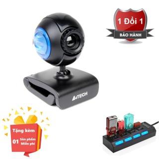 ( Tặng kèm hub chia 4 cổng usb có công tắc ) Webcam tích hợp Micro cho máy tính, PC, Laptop A4tech 752F - Webcam học online tại nhà A4tech PK-752F - Webcam online kèm Micro 752F thumbnail