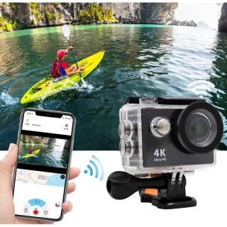 [Phiên Bản Mới] Camera Hành Trình 4k Ultra Hd Wifi Kết Nối Với Điện Thoại Live Stream H9r Cao Cấp Chất Lượng Video Chuẩn 4k Ultra Hd Bảo Hành 12 Tháng thumbnail