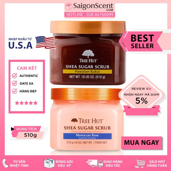 [Chọn Mùi] Tẩy Tế Bào Chết Toàn Thân Tree Hut Sugar Scrub ( 510g )