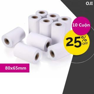 10 Cuộn Giấy in nhiệt Oji K80 Phi 65mm (80x65mm) thumbnail