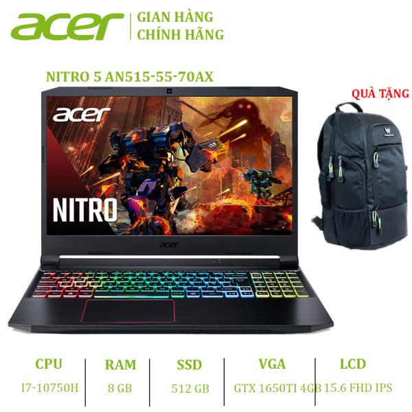 Bảng giá Laptop Acer Nitro 5 2020 AN515-55-70AX (i7-10750H | 8GB | 512GB | VGA GTX 1650Ti 4GB | 15.6 FHD | Win 10) Phong Vũ