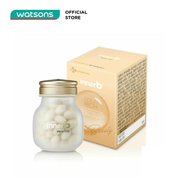 Thực Phẩm Bảo Vệ Sức Khỏe Innerb Aqua Rich Radiant Soft Skin Hỗ Trợ Giữ Ẩm Làm Đẹp Da (70 viên)