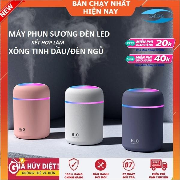 Bảng giá Máy phun sương mini tạo ẩm Kiêm máy xông tinh dầu,khuếch tán tinh dầu làmĐèn Ngủ, có đèn Led nhiều màu dùng sạc USB,phun sương tạo ẩm lọc không khí (Huongviva) Điện máy Pico