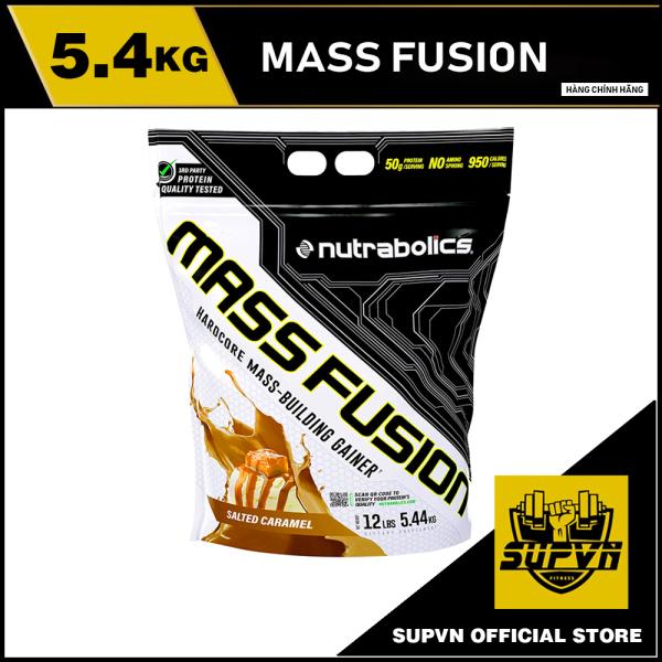 Mass Fusion 12Lbs 5.44kg - Sữa tăng cân nạc cho người gầy hạn chế mỡ Mass Fusion Nutrabolics giá rẻ