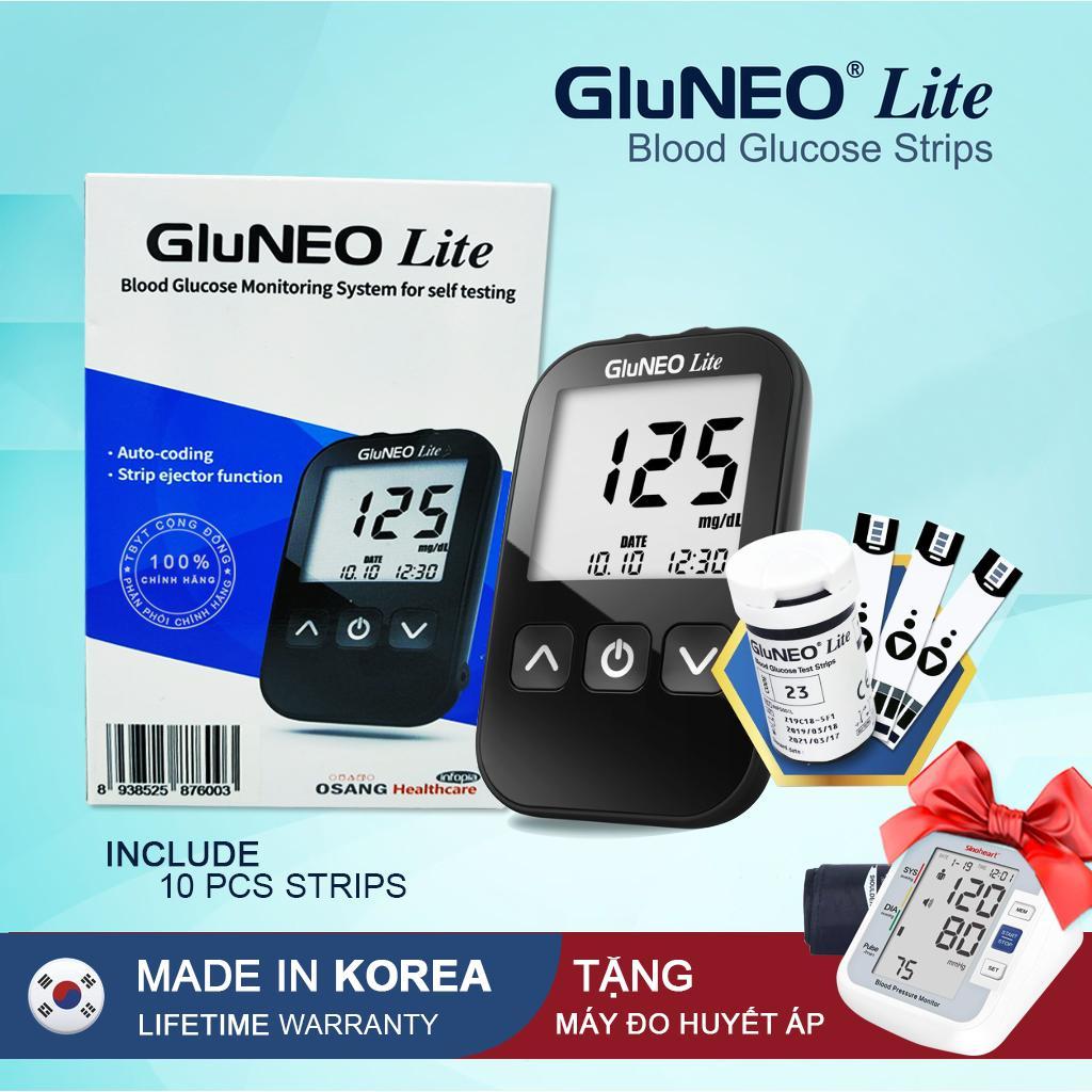 Máy Đo Đường Huyết GluNEO Lite + Tặng máy đo huyết áp