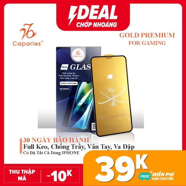Kính Cường Lực CAPARIES Gold Premium cho IPHONE - Video Thực Tế
