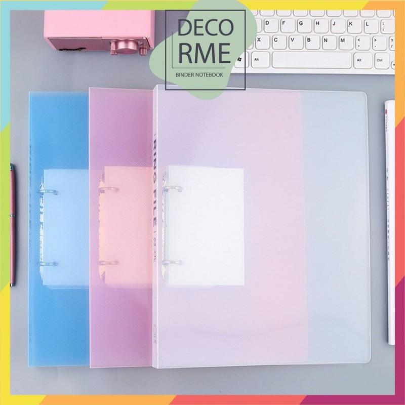 Bìa sổ còng cứng khổ A4 2 lỗ sử dụng làm sổ planner phụ kiện sổ còng Decorme (chưa kèm giấy)