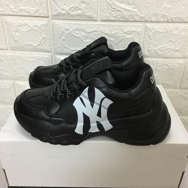 [TẶNG TẤT + HỘP] Giày thể thao hàn quốc nam nữ MLB NY full đen giá rẻ