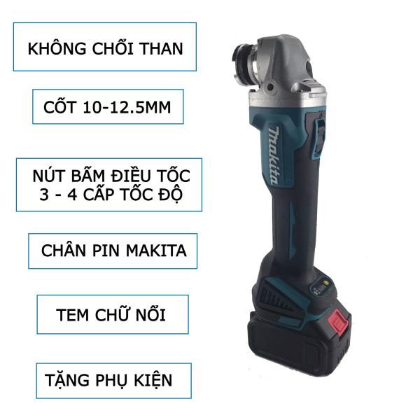 Thân máy mài pin Makita không than 100-125mm đến 4 tốc độ