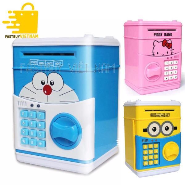 Két sắt mini thông minh cho bé tiết kiệm tiền siêu đáng yêu ,chất liệu nhựa an toàn tuyệt đối,  tạo cho bé thói quen tiết kiệm