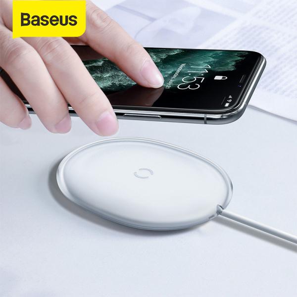 Giá [Siêu Sale][Hàng Quốc tế Chính hãng] Sạc nhanh không dây Baseus Jelly 15W Qi cho iPhone Điện thoại Samsung Huawei Xiaomi Airpods Pro
