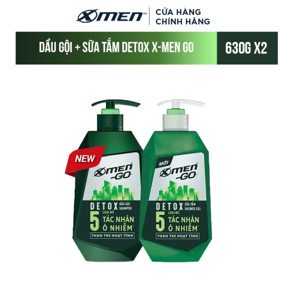 Combo Dầu Gội và Sữa tắm Detox X-Men Go (630G/Chai)