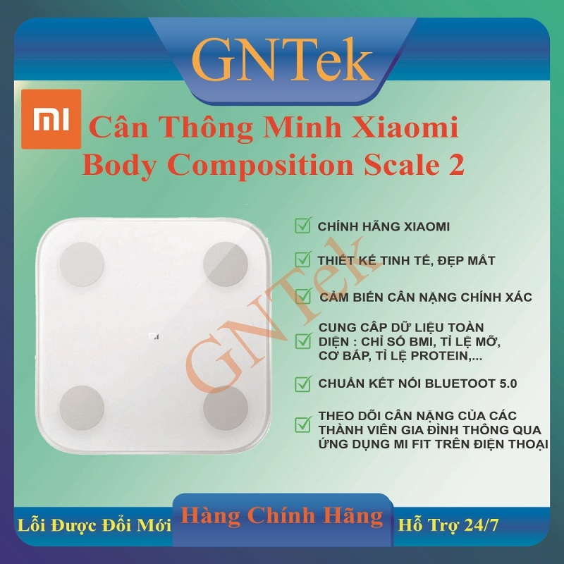 [Miễn phí Ship] [CHÍNH HÃNG XIAO MI] Cân sức khỏe điện tử thông minh Xiaomi Body composition Scale gen 2