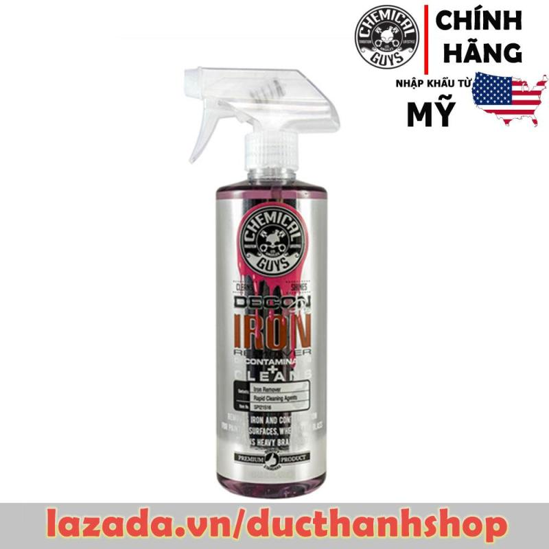 Vệ sinh bụi thắng, bụi kim loại mâm xe Chemical Guys Decon Pro Iron Remover And Wheel Cleaner (16 Oz)