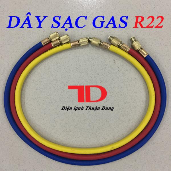 Bộ 3 sợi dây sạc nạp gas máy lạnh R22, bộ 3 sợi dây sạc gas máy lạnh R22