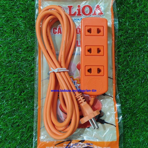 Ổ cắm điện LIOA công suất cao 16A - ổ cắm điện 3 ổ có dây kéo dài 3 mét LIOA  S3TC giá rẻ