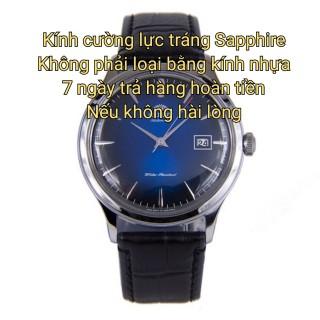 Đồng hồ nam Orient Màu bạc xanh dương JAPAN Kính cường lực tráng Sapphire ( máy pin kim trôi ) thumbnail