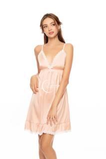 Dreamy- VX23- Váy ngủ lụa cao cấp, váy ngủ nữ, váy ngủ 2 dây quyến rủ, váy ngủ nữ 2 dây sexy gợi cảm phối ren, váy ngru nữ đuôi cá, váy ngủ nữ 2 dây đuôi cá có 4 màu hồng pastel, xanh bơ, xám và đỏ đô thumbnail