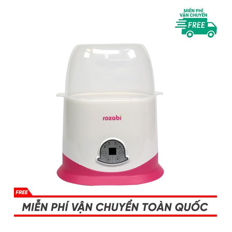 Máy hâm sữa và tiệt trùng cảm ứng 5 chức năng Rozabi (2 bình cổ rộng)
