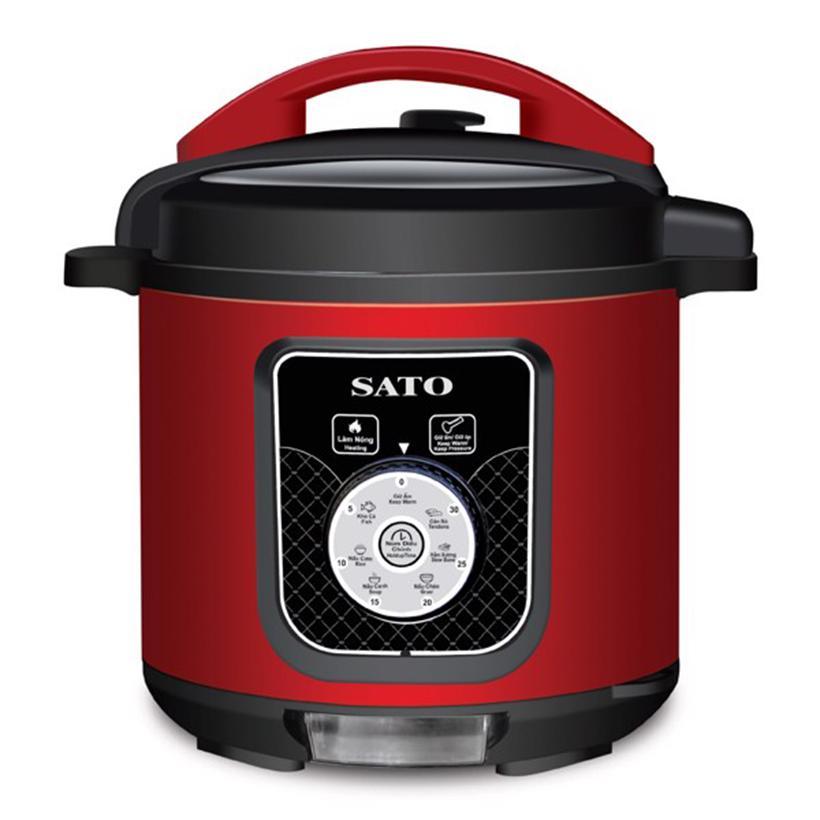 Nồi áp suất điện đa năng SATO ST-612PC(Đ) (Màu đỏ)