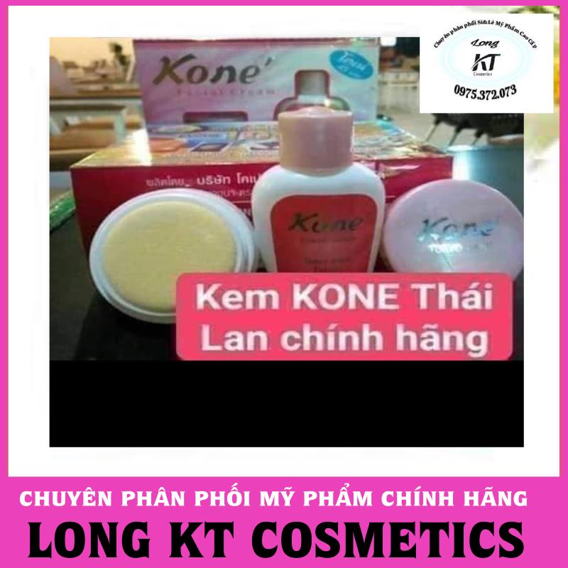 (Hàng chuẩn Thái lan giá sĩ) Set gồm: chai nước thần + kem Kem Facial cream kone Thái Lan được chiết xuất từ sữa dê & hoa hồng giàu vitamin A, C, D & E  Trị nám, tàn nhang, mụn, dưỡng ẩm cao, giúp da mịn màng giá rẻ
