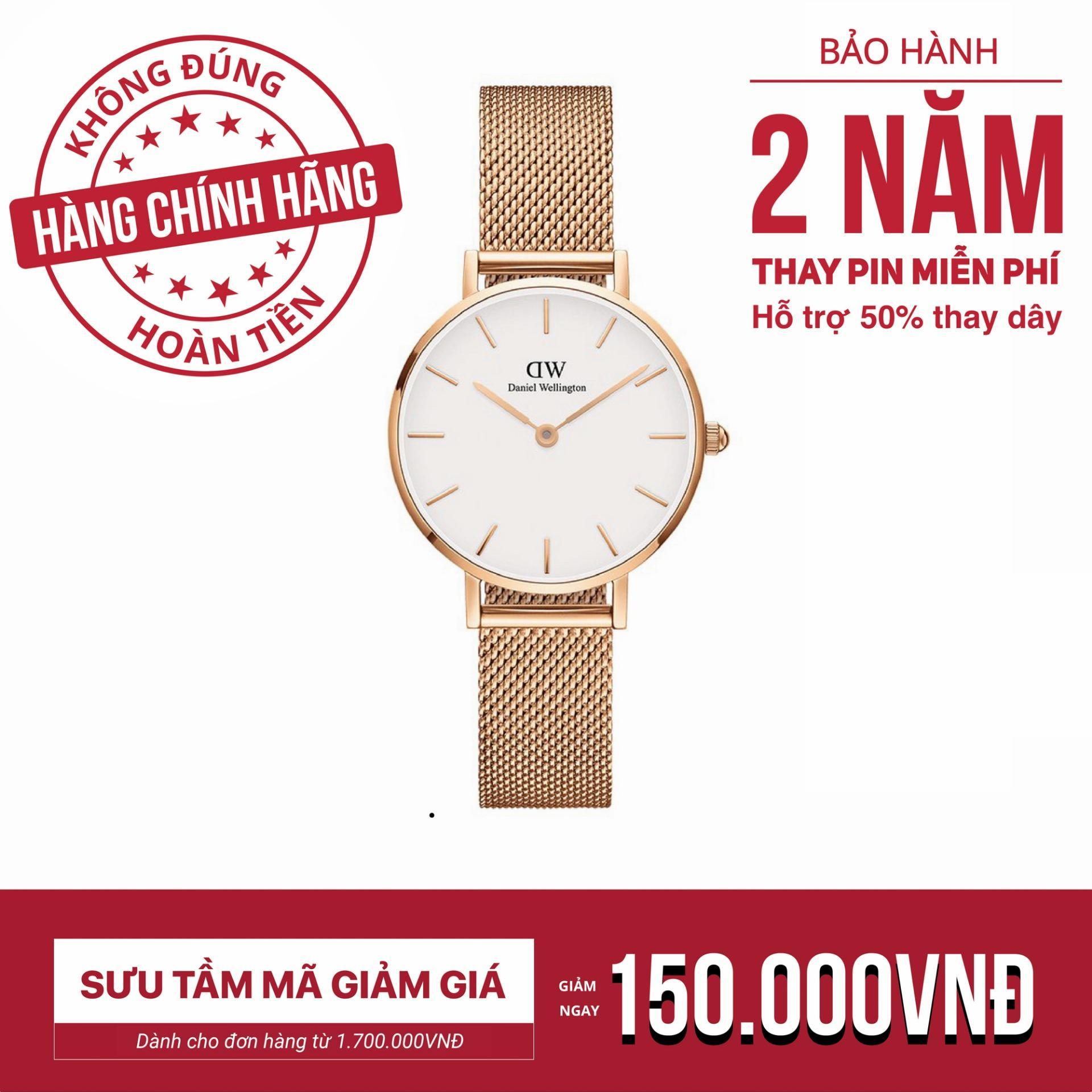 96f34b0f768b Đồng hồ nữ dây lưới Daniel Wellington Classic Petite Melrose 28mm DW00100219
