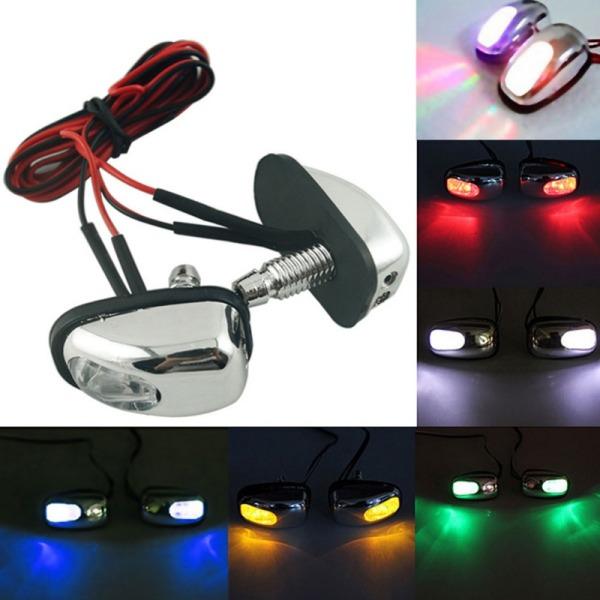 LED 6 màu 2 cái / bộ Xe ô tô mui xe Trang trí Phun nước Vòi phun nước Kính chắn gió Máy giặt Gạt nước Ánh sáng phun nước
