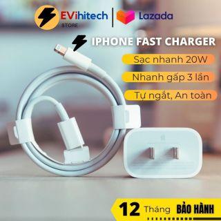 [HÀNG ZIN] Sạc nhanh iphone, bộ củ sạc nhanh iphone sạc chuyên dụng cho Iphone X, XS, Xmax, iphone 12 - Evihitech Store thumbnail
