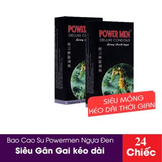 Bộ 24 bao cao su Powermen Tăng khoái cảm - bao cao su dotted - bao cao su Power Men - Bộ 2 Hộp Bao cao su có gai size nhỏ ôm sát Powermen Dotted Type Hộp thumbnail