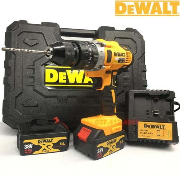 Máy khoan pin Dewalt 38V cực khỏe - Máy khoan 3 chức năng - Pin 10 cell - Máy khoan tường , khoan gỗ , bắt vít - VAN ĐÔ STORE