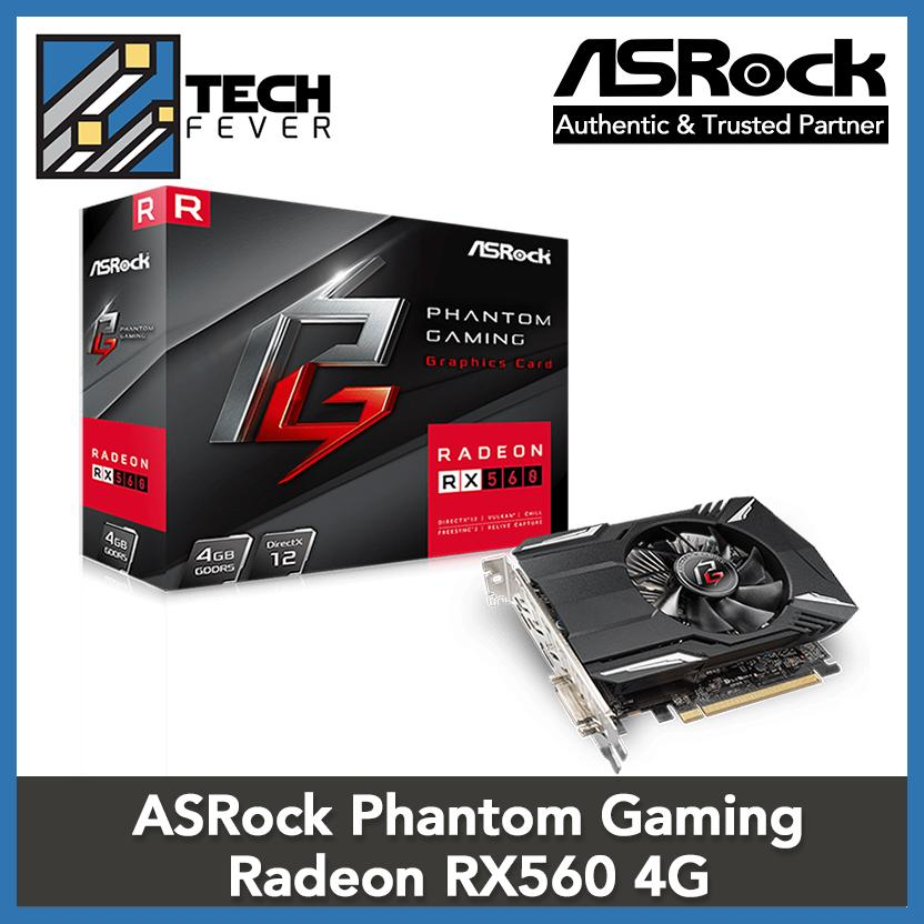 ASRock Phantom Gaming Radeon RX560 4G Video Graphic Card VGA