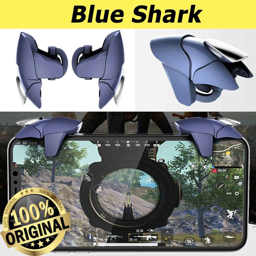 COMBO 2 NÚT BẤM CHƠI GAME PUBG, ROS, FREEFIRE BLUE SHARK CỰC ĐẸP, CỰC KÌ NHẠY VÀ NHẸ