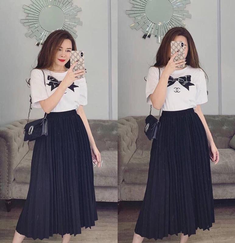 Chân Váy Dập Ly Quảng Châu