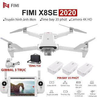 [ NEW 2020] Flycam Xiaomi Fimi X8 SE Gimbal Trống Rung 3 Trục Quay Phim 4K Truyền ảnh 8KM Thời Gian Hoạt Động 35 Phút ( xiaomi. fimi A3. mi drone 4k hubsan zino mavic air dji spark) - HÀNG CHÍNH HÃNG BẢO HÀNH  12 THÁNG