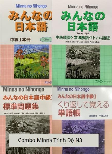 Sách - Combo Minna No Nihongo Trung Cấp 1 – Trình Độ N3