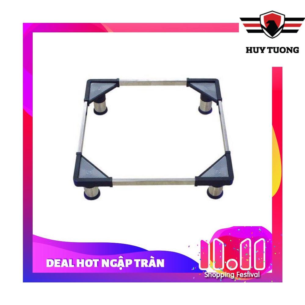Chân đế giá đỡ tủ lạnh , máy giặt đa năng inox cao cấp 48 - 60cm (chân inox ) CDN - Huy Tưởng