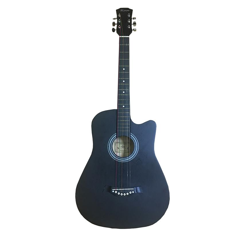 Đàn Guitar Acoustic GU05 Màu Đen Nhám Dáng Khuyết - Hàng có sẵn