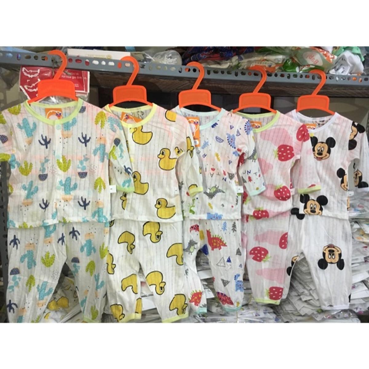 Combo 05 quần dài cotton giấy dài tay (Hoạ tiết giao ngẫu nhiên) Nhật Bản