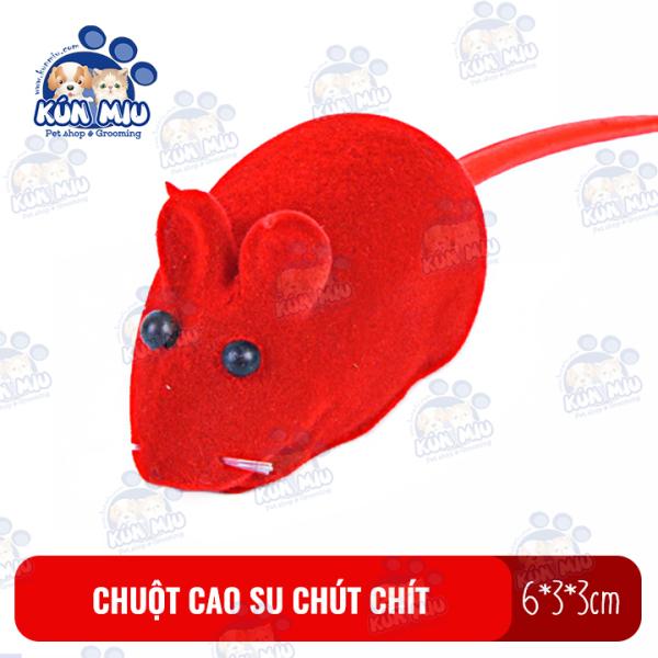 Chuột Cao Su Chút Chít Đồ Chơi Cho Chó Mèo Kún Miu Size 6Cm