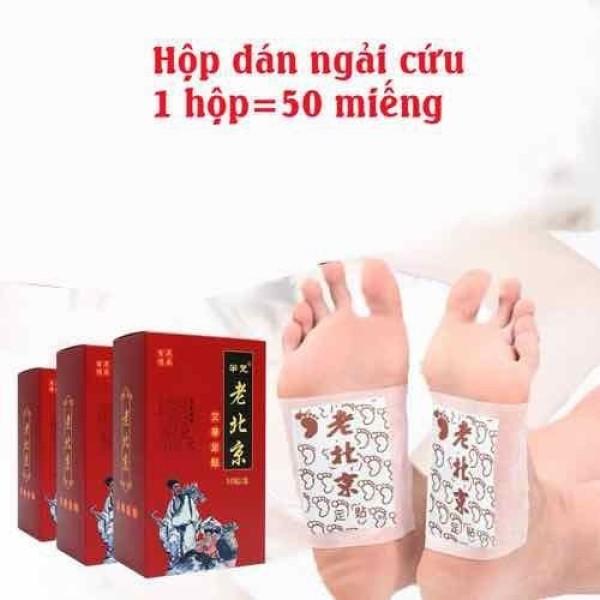 HỘP 50 Miếng dán chân thải độc - Miếng dán ngải cứu Bắc Kinh nhập khẩu