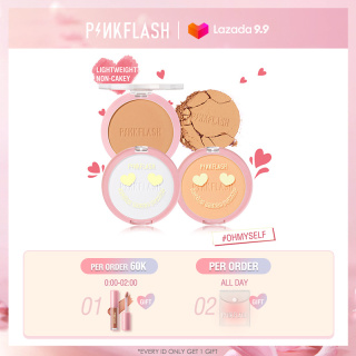PINKFLASH OhMySelf Long-lasting 8-Hour Matte Waterproof Lightweight Sweat Proof Oil Control Foundation Pressed Powder Compacts thumbnail