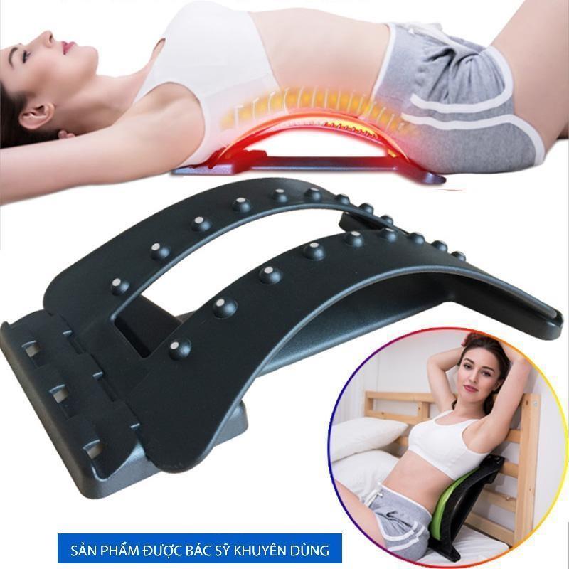 Dụng cụ massage cột sống - Khung nắn chỉnh cột sống thoát vị đĩa đệm, đau thắt lưng, ngồi nhiều + Dụng cụ massage cột sống, có 3 mức độ tùy chỉnh
