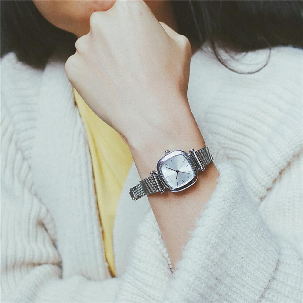 Nơi bán DH221- Đồng hồ nữ Dasavoong MFS CB90 dây nhuyễn (Bạc)