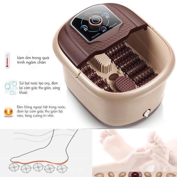 Bồn ngâm chân hồng ngoại massage thư giãn - Bồn ngâm chân massage giữ nước nóng cao cấp 3Lit - Thùng ngâm châm tự động massage trị liệu đa năng cao cấp