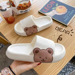 [COD] Chuẩn bị Gửi hàng hóa mùa hè con gấu hoạt hình giày đi nhà chống trượt Chất khử mùi Đáy dày Dép đi trong nhà thumbnail