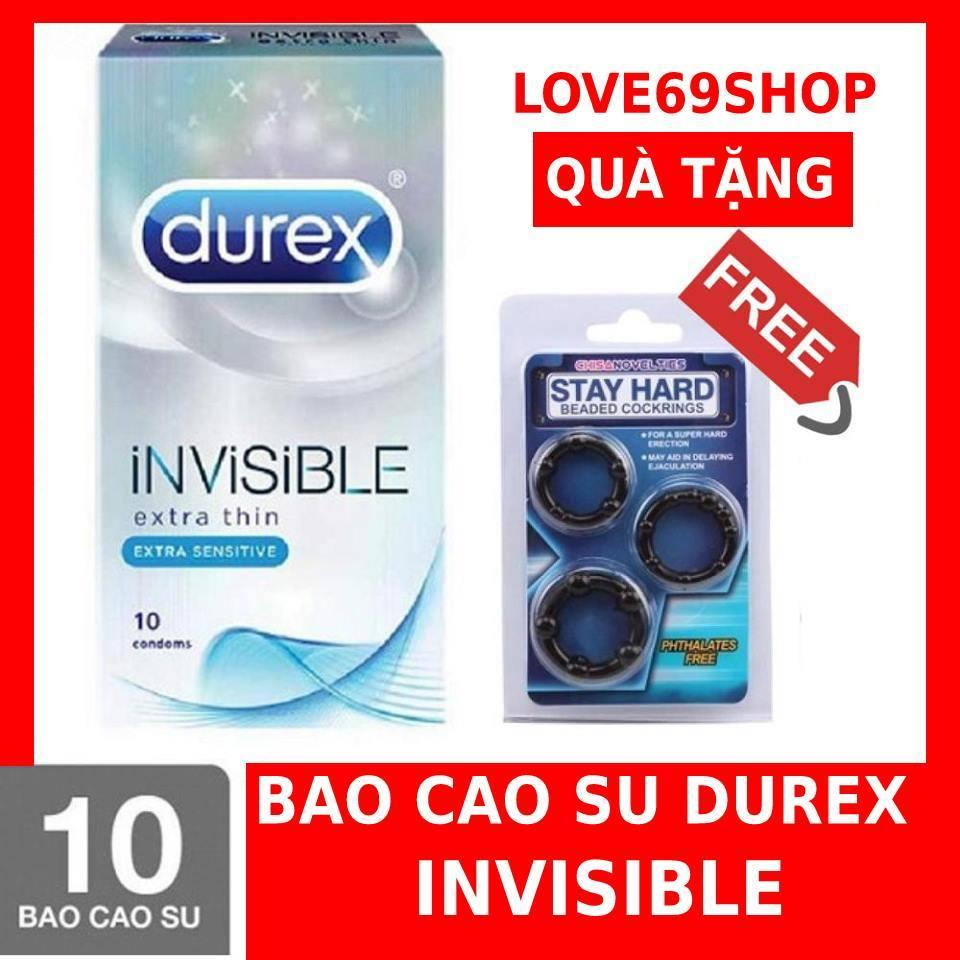 Bao Cao Su Siêu Mỏng Durex Invisible 12 Condoms + Tặng vòng đeo kéo dài qh