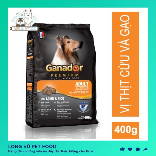 400g Thức ăn cho chó lớn GANADOR ADULT vị thịt cừu & gạo Lamb & Rice - Long Vũ Pet Food