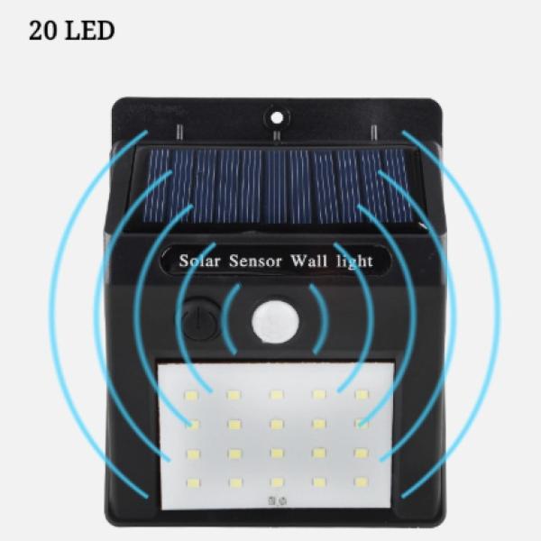 Đèn LED treo tường cảm biến chuyển động dùng năng lượng mặt trời 20led / 30led / 40led (Cảm biến chuyển động)